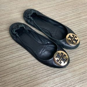 Tory Burch - Black Leather Flats